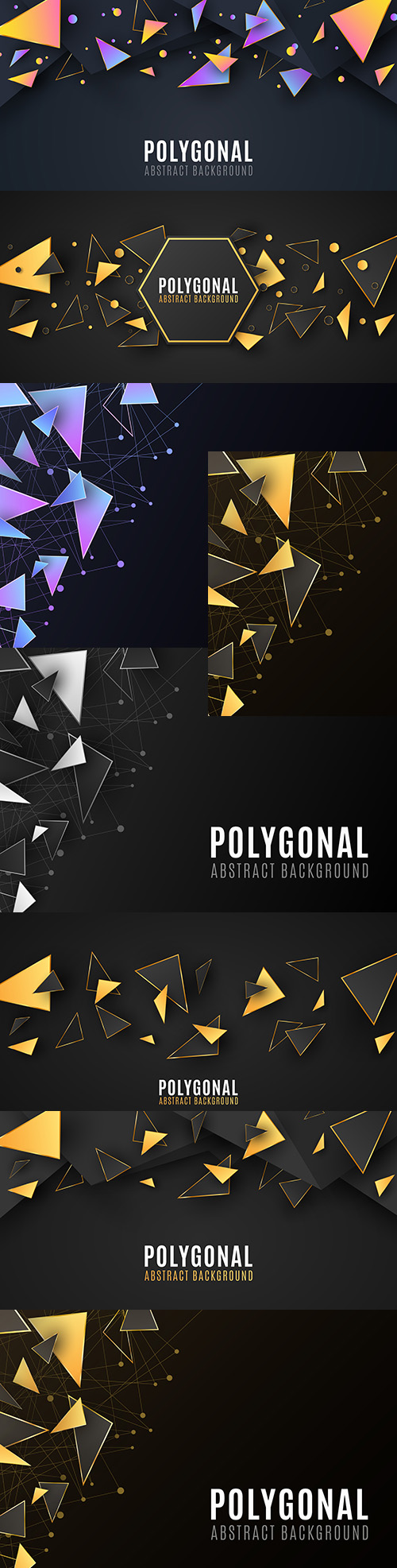 Polygon abstract background stylish design