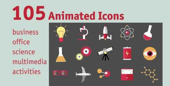 VIDEOHIVE 105 ANIMATED ICONS