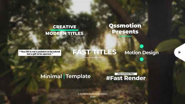 VIDEOHIVE CREATIVE AND CLEAN TITLES PACKAGE