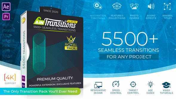 VIDEOHIVE AINTRANSITIONS | ULTIMATE MULTIPURPOSE TRANSITIONS PACK