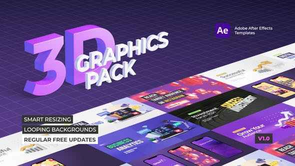 VIDEOHIVE 3D GRAPHICS PACK