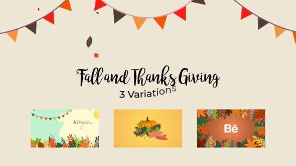 VIDEOHIVE FALL AND THANKSGIVING REVEAL