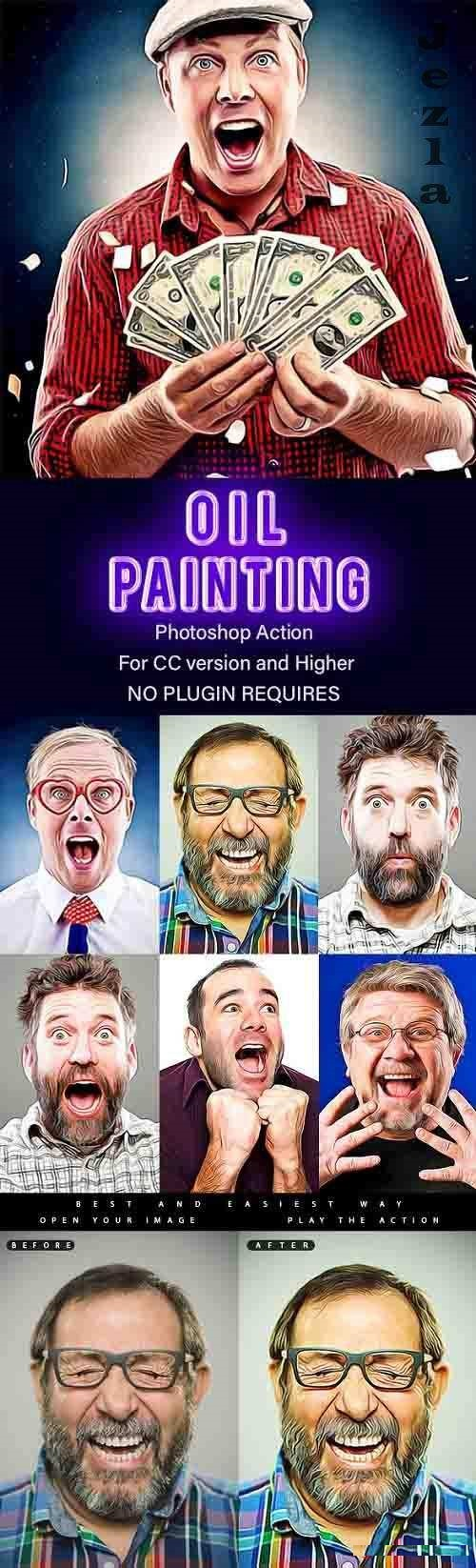GraphicRiver - Oil Painting - Photoshop Action 28914826