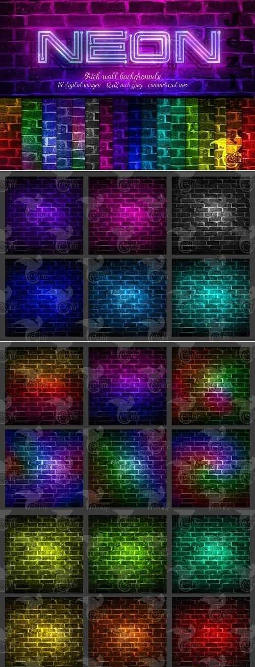 Neon Brick Wall Backgrounds - 5757886