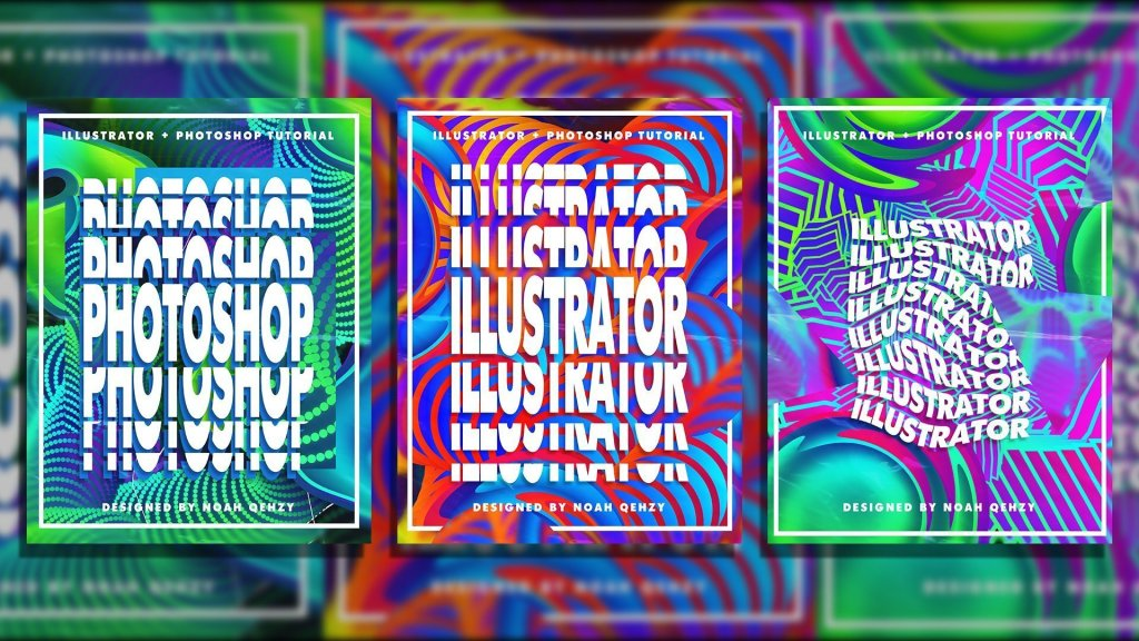 Create Colorful Pattern Posters In Illustrator And Photoshop By Noah 'Qehzy' Kline
